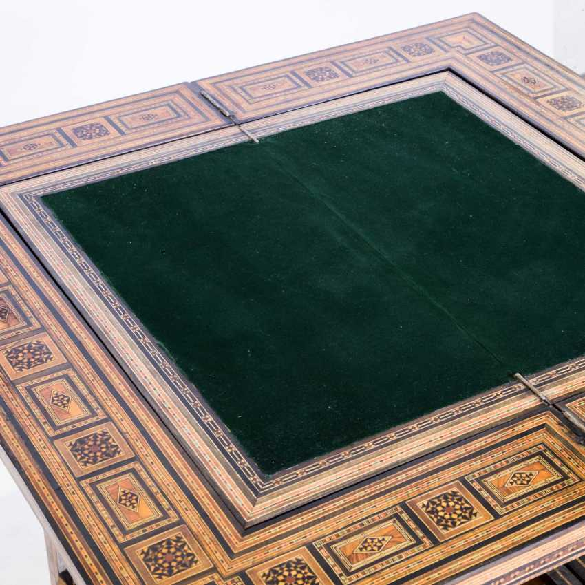 ORIENTAL GAME TABLE WITH TWO CHAIRS - photo 4
