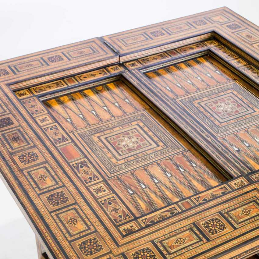 ORIENTAL GAME TABLE WITH TWO CHAIRS - photo 6