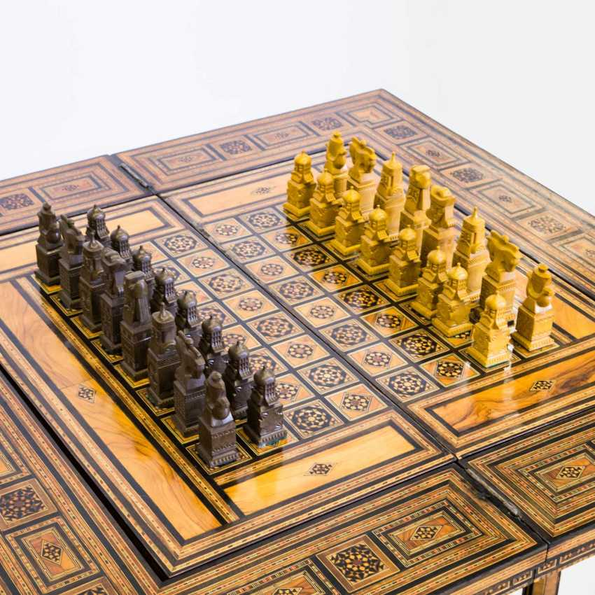 ORIENTAL GAME TABLE WITH TWO CHAIRS - photo 7