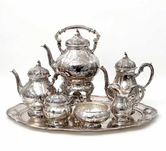 HANAU prächtiger Kaffee- und Teekern auf Tablett, Anfang 20. Jahrhundert - photo 1