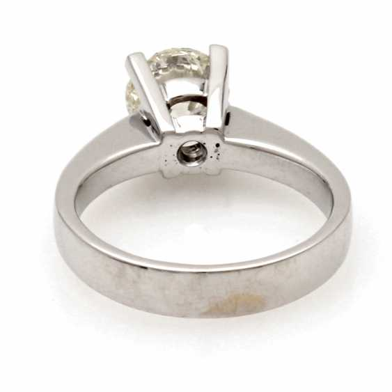 """Ladies Ring 18 K White Gold """"Solitaire"""" - photo 2"""
