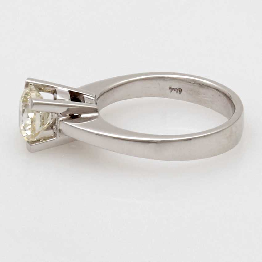 """Ladies Ring 18 K White Gold """"Solitaire"""" - photo 5"""