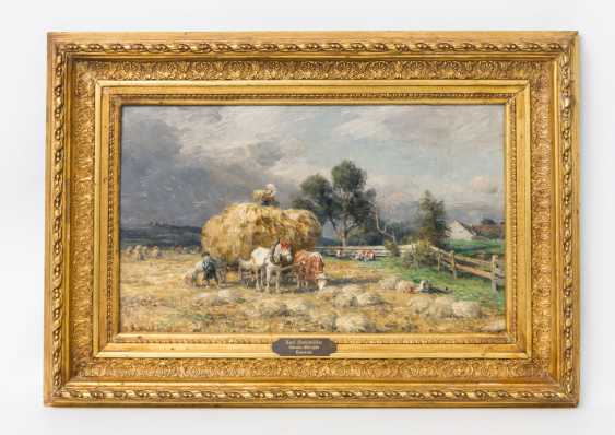 """Chair Muller, CHARLES (1859-1930, a painter from Munich), """"haymaking"""" - photo 2"""