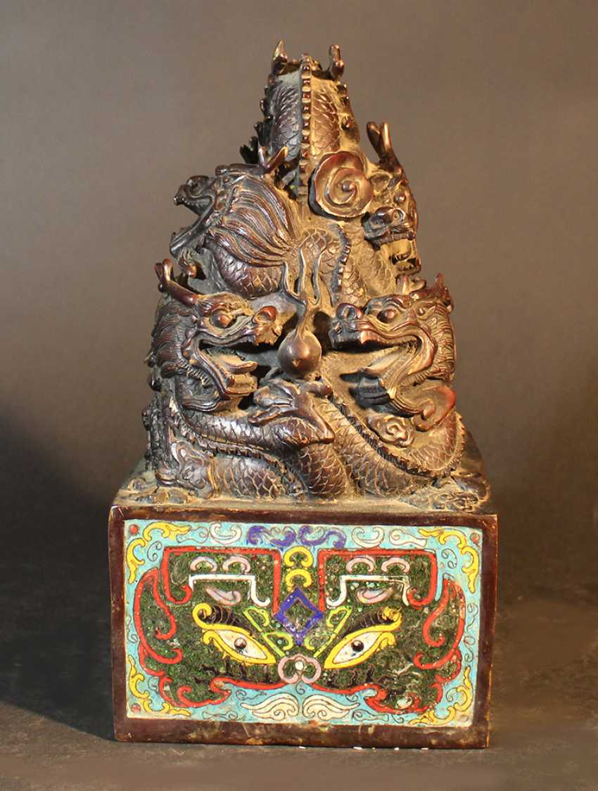 Chinese big imperial bronze stamp - photo 3