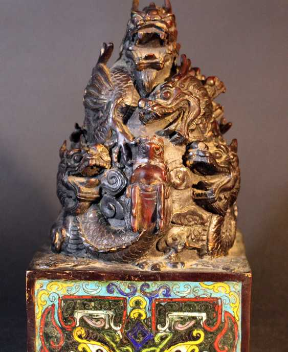 Chinese big imperial bronze stamp - photo 1