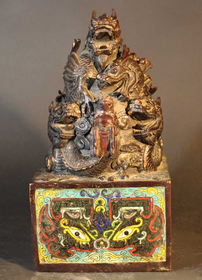 Chinese big imperial bronze stamp - photo 2