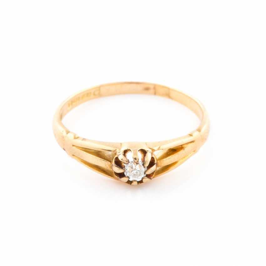 Ring Mit Diamant Solitaire Lot 110