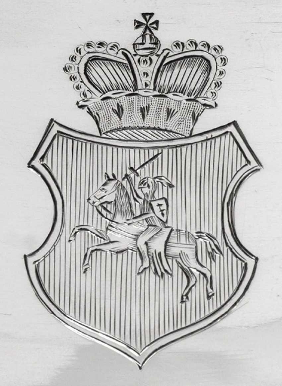 Historically important Biedermeier coffee service from the estate of Alexander Mikhailovich Rimsky-Korsakov (1753-1840), Governor-General of Lithuania - photo 2