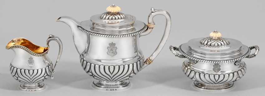 Historically important Biedermeier coffee service from the estate of Alexander Mikhailovich Rimsky-Korsakov (1753-1840), Governor-General of Lithuania