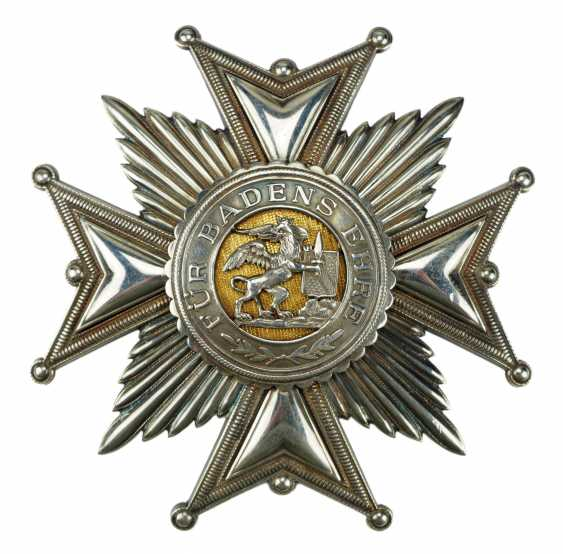 Baden military Karl-Friedrich order of merit, breast star to the Grand and commander-the cross. - photo 1