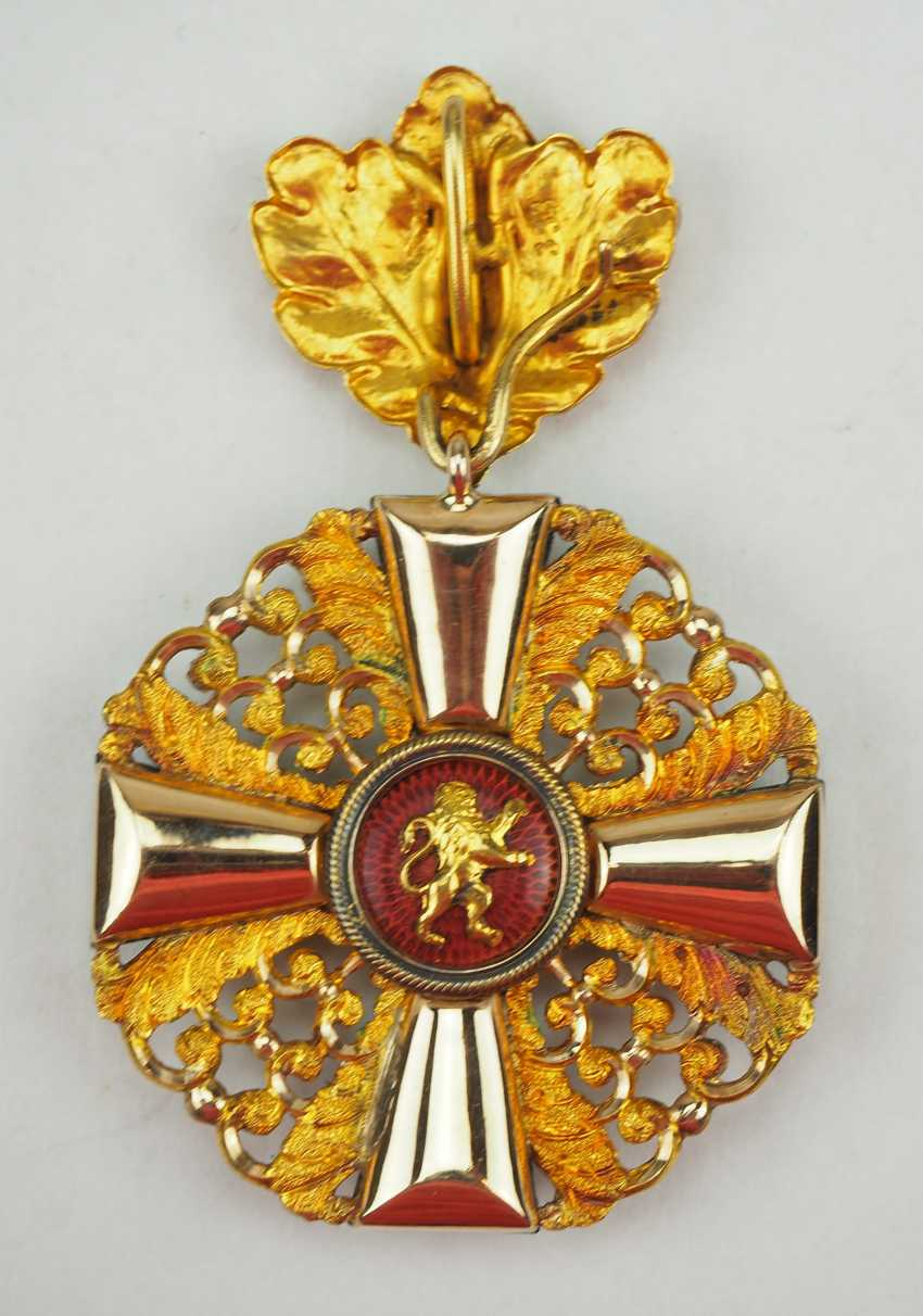 Baden: Grand of the order of the Zähringer lion, knights cross 1 Duke. Class with oak leaves. - photo 3