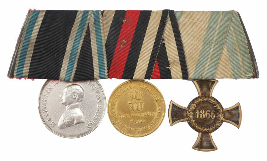 Bavaria: Medalbar of a brave frontline soldiers of the wars of 1866 and 1870/71. - photo 1