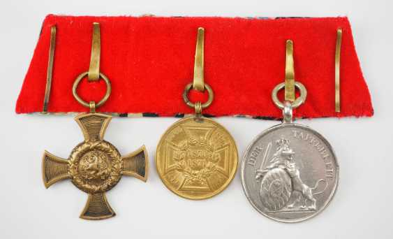 Bavaria: Medalbar of a brave frontline soldiers of the wars of 1866 and 1870/71. - photo 2