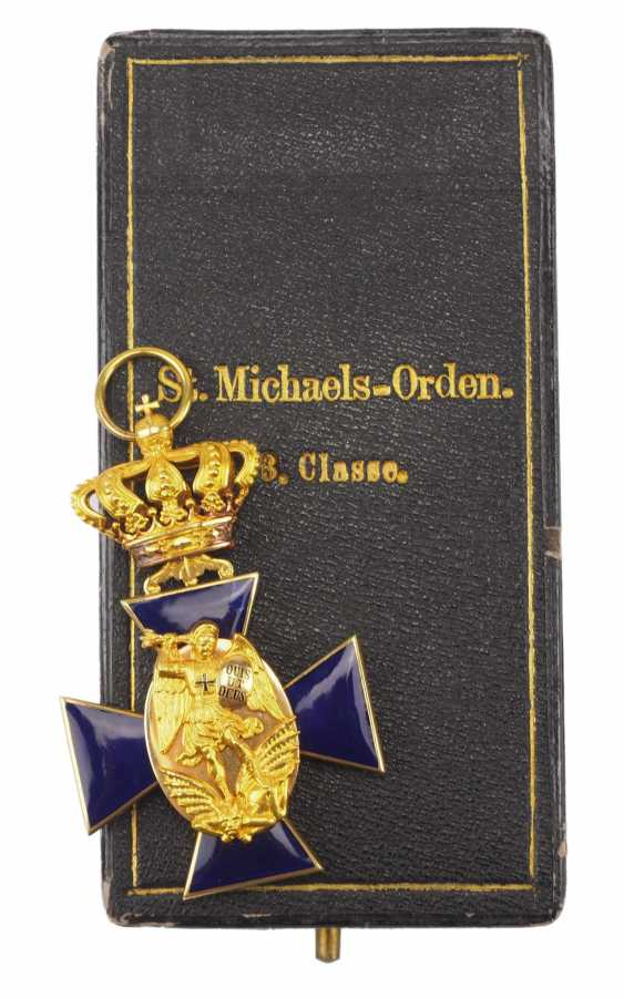 Bavaria: order of merit of the hl. Michael, 3. Class, in a case. - photo 1