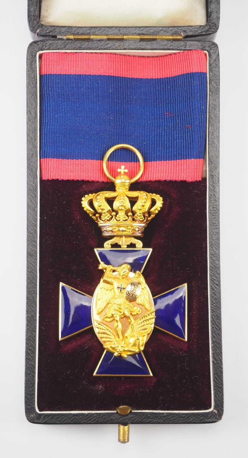 Bavaria: order of merit of the hl. Michael, 3. Class, in a case. - photo 2