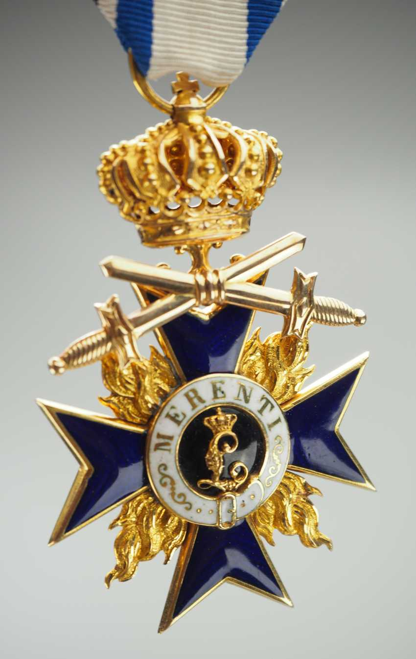 Bavaria: Military Merit Order, 3. Class with crown and swords. - photo 1