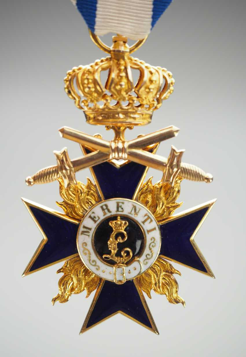Bavaria: Military Merit Order, 3. Class with crown and swords. - photo 2