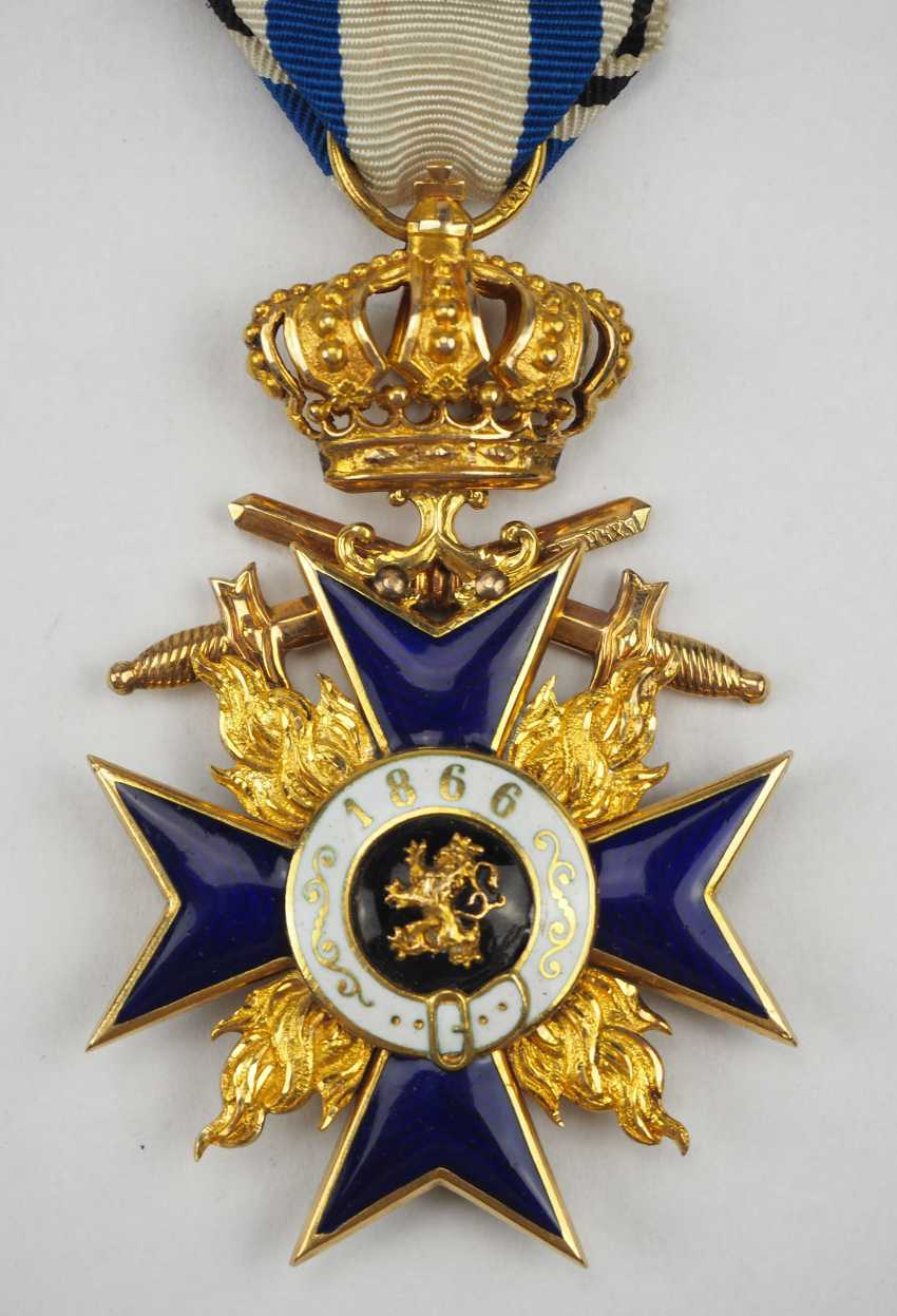 Bavaria: Military Merit Order, 3. Class with crown and swords. - photo 5