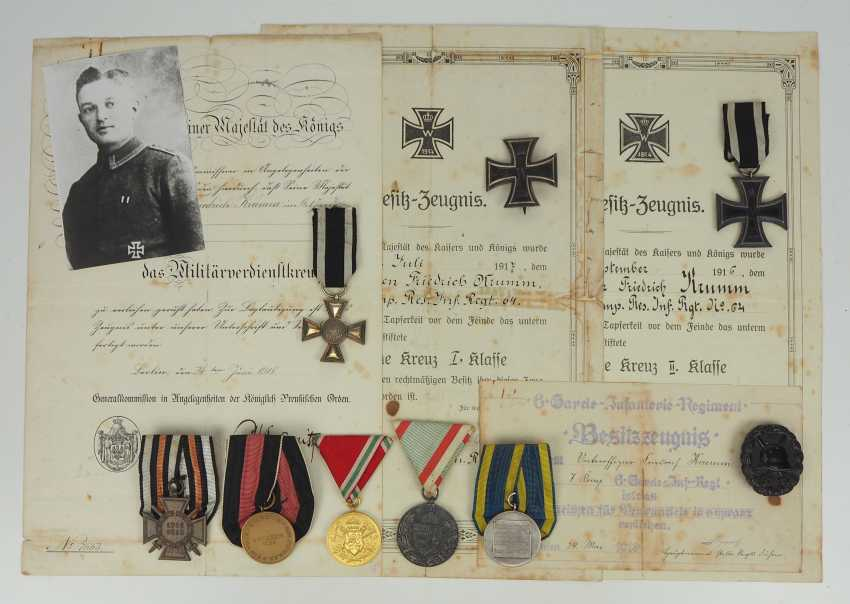Prussia: estade of a non-commissioned officer in the 6. Guard infantry Regiment with a military cross of merit. - photo 1