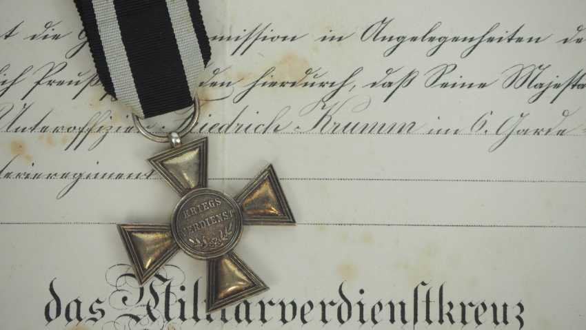 Prussia: estade of a non-commissioned officer in the 6. Guard infantry Regiment with a military cross of merit. - photo 5