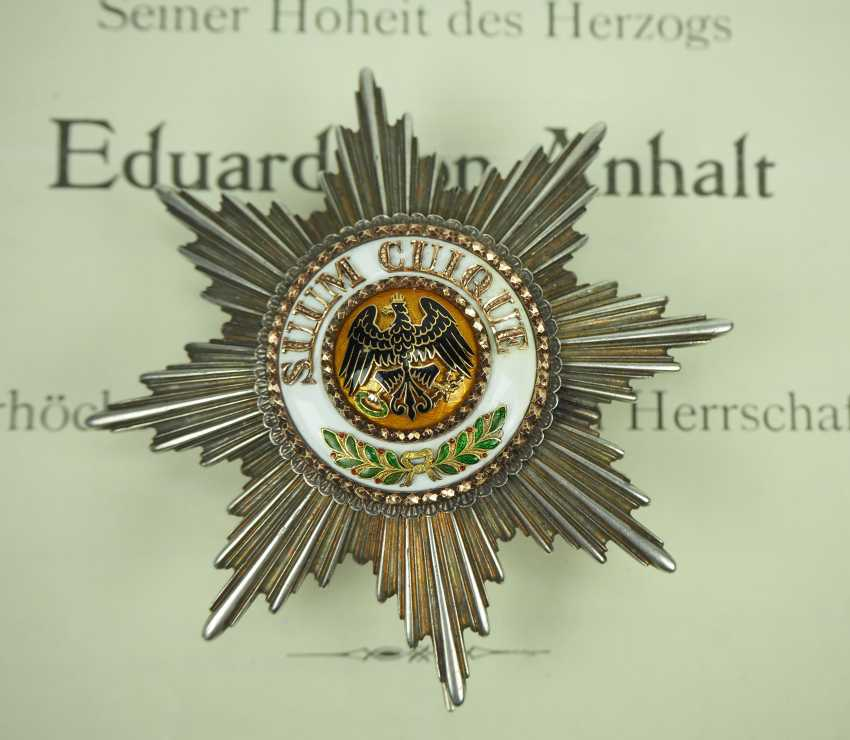 Prussia: High-order of the Black eagle, breast star of the Duke Eduard of Anhalt. - photo 1