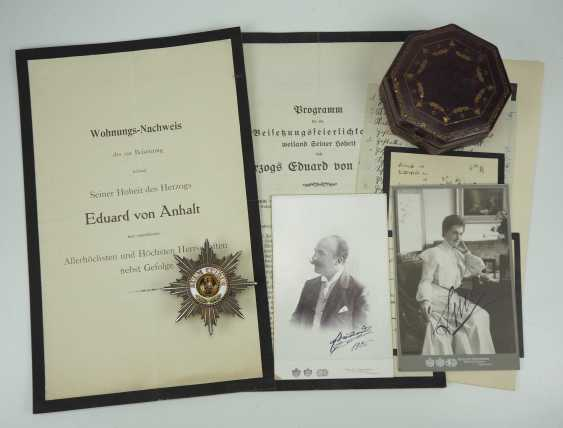 Prussia: High-order of the Black eagle, breast star of the Duke Eduard of Anhalt. - photo 2