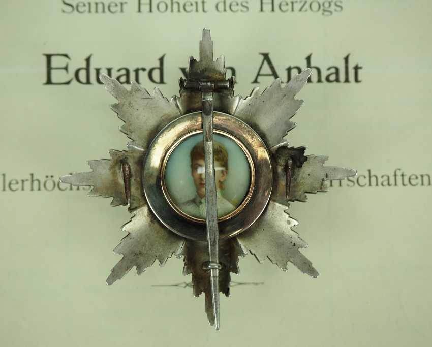 Prussia: High-order of the Black eagle, breast star of the Duke Eduard of Anhalt. - photo 4