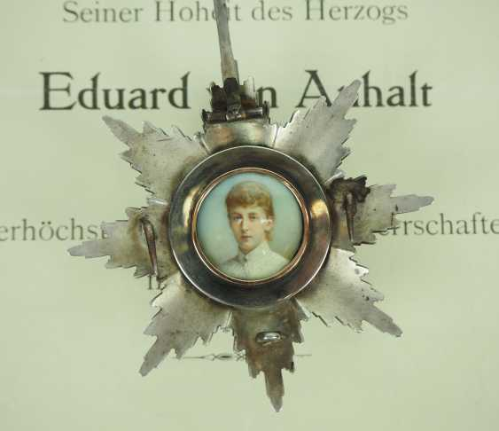 Prussia: High-order of the Black eagle, breast star of the Duke Eduard of Anhalt. - photo 5