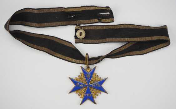 Prussia: order Pour le Mérite for military merits - wear piece. - photo 1