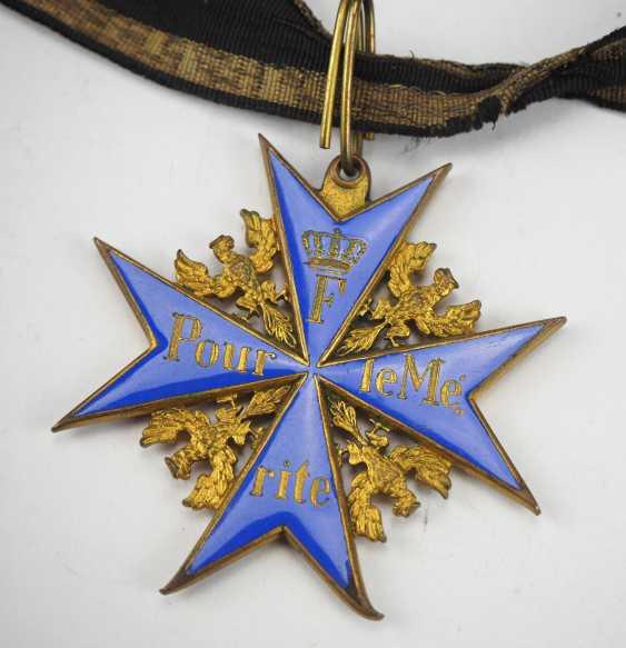 Prussia: order Pour le Mérite for military merits - wear piece. - photo 2