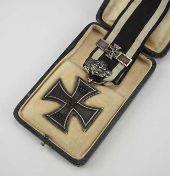 "Prussia: Iron Cross, 1870, 2. Class oak break ""25"" and repetition clasp to 1914. - photo 1"