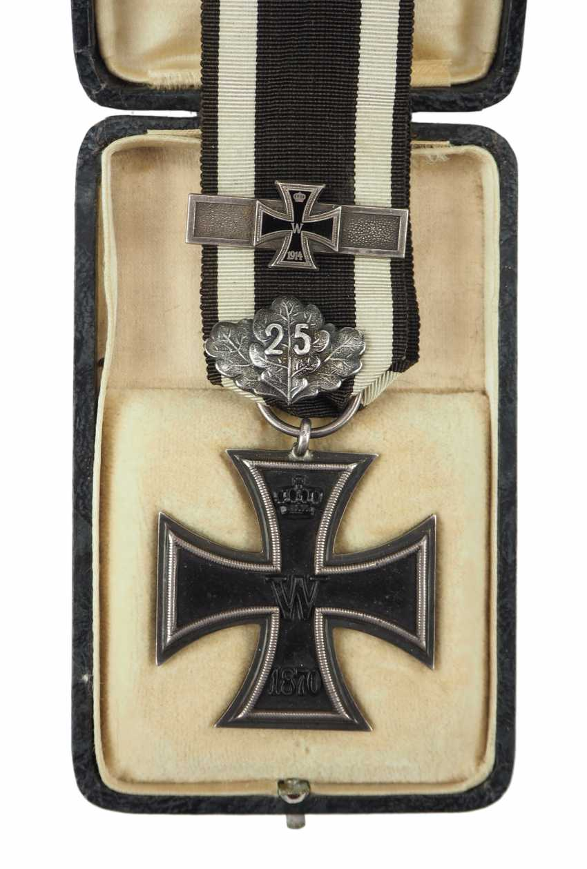 "Prussia: Iron Cross, 1870, 2. Class oak break ""25"" and repetition clasp to 1914. - photo 2"