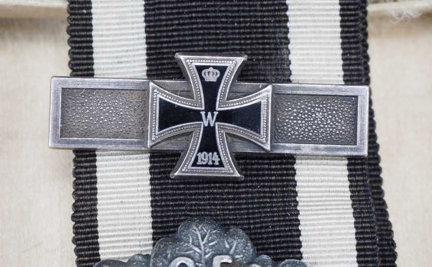 "Prussia: Iron Cross, 1870, 2. Class oak break ""25"" and repetition clasp to 1914. - photo 3"