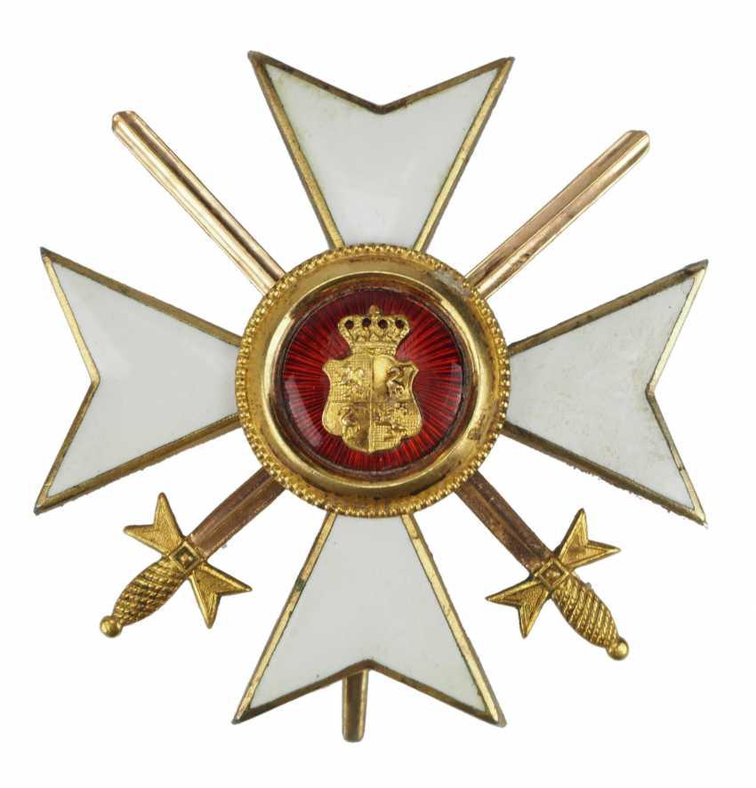 Reuss: Princely Reuss magnetic honor cross, officer's cross with swords. - photo 1