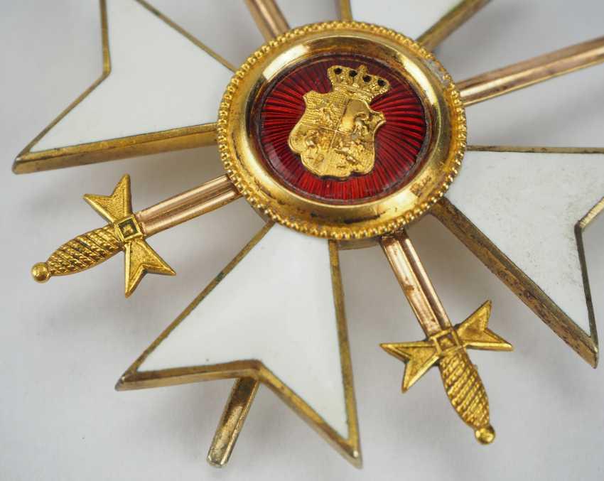 Reuss: Princely Reuss magnetic honor cross, officer's cross with swords. - photo 2