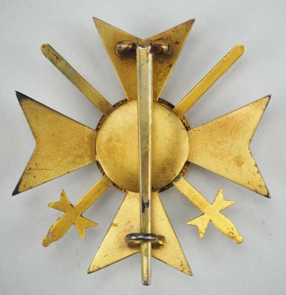 Reuss: Princely Reuss magnetic honor cross, officer's cross with swords. - photo 3