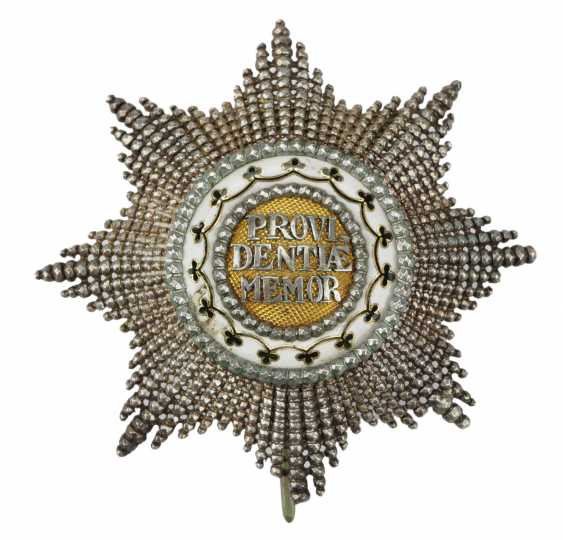 Saxony: house order of the diamond crown, breast star. - photo 1