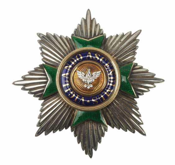 Saxe-Weimar-Eisenach: Royal Saxony house Duke of vigilance or the White Falcon, Grand cross star of the order. - photo 1