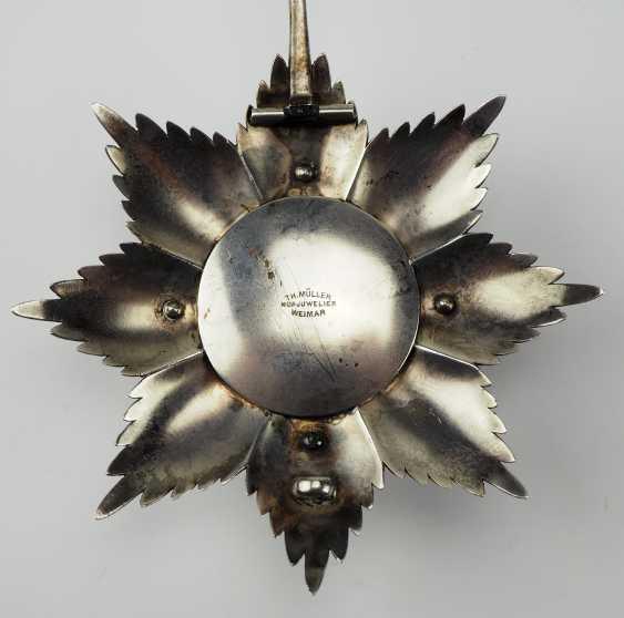 Saxe-Weimar-Eisenach: Royal Saxony house Duke of vigilance or the White Falcon, Grand cross star of the order. - photo 4