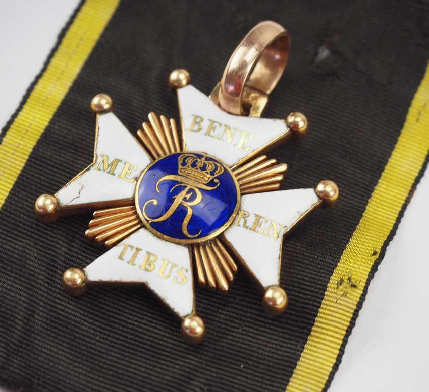Württemberg: civil order of merit, knight's cross with certificate for captain Johann Christian v. Romig - breeding house keepers to the criminal gotteszell prison in Schwäbisch Gmünd. - photo 4
