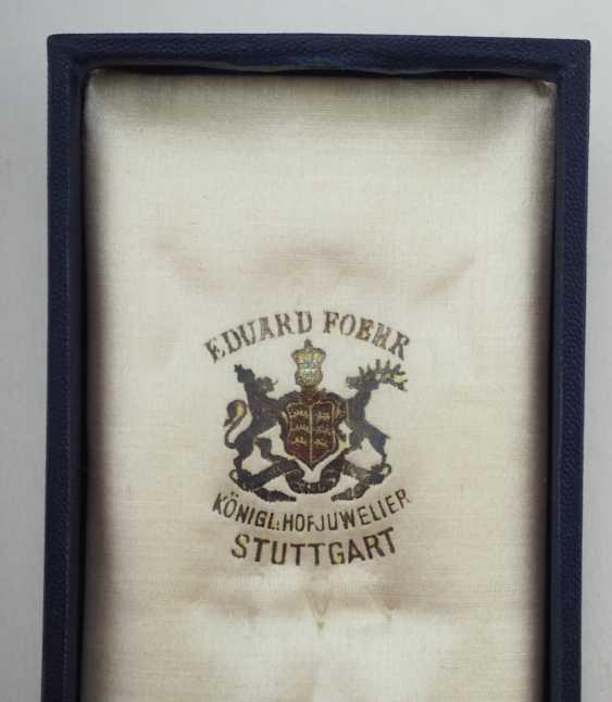Württemberg: Royal Württemberg court inspector, Major z. d. Karl Friedrich von Luz - military order of merit, (1891-1914), knights cross, in case. - photo 6