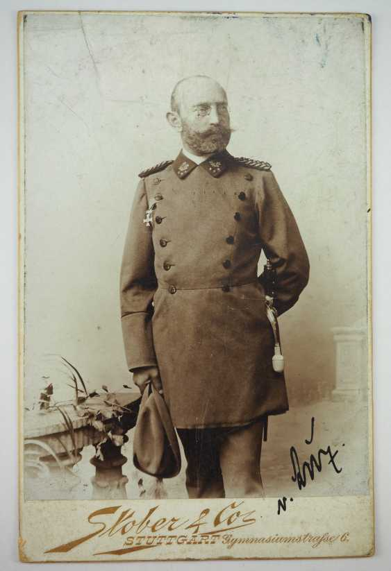 Württemberg: Royal Württemberg court inspector, Major discount, for example, D. Karl Friedrich von Luz - documents - and Documents. - photo 3