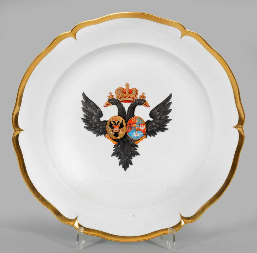 Large rare coat of arms plate from the possession of Tsar Paul I of Russia