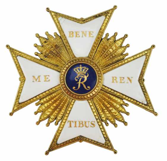 Württemberg: Military Cross Of Merit With Star Of The Order Is Large. - photo 1