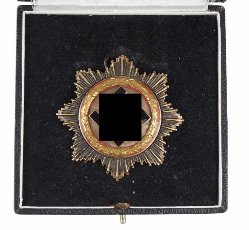 German cross in Gold, in a case - heavy Deschler. - photo 2