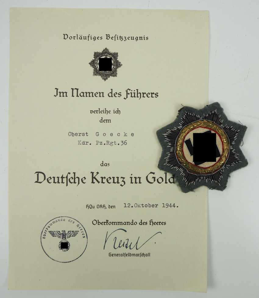 Estate of Colonel Fritz Goecke, commander of the Panzer-Regiment 36. - photo 5