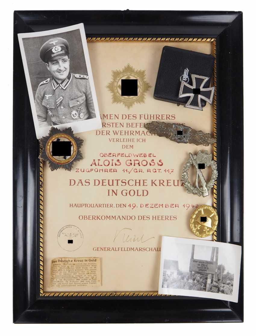 Estate of Sergeant Alois Gross, a platoon leader in the 11./ Grenadier-Regiment 117. - photo 1