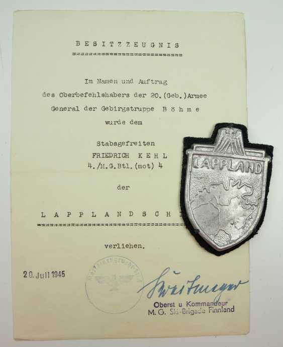 Estate of a staff of 4 corporal./ M. G. battalion (mot.) 4. - M. G. Ski-Brigade Finnland. - photo 2