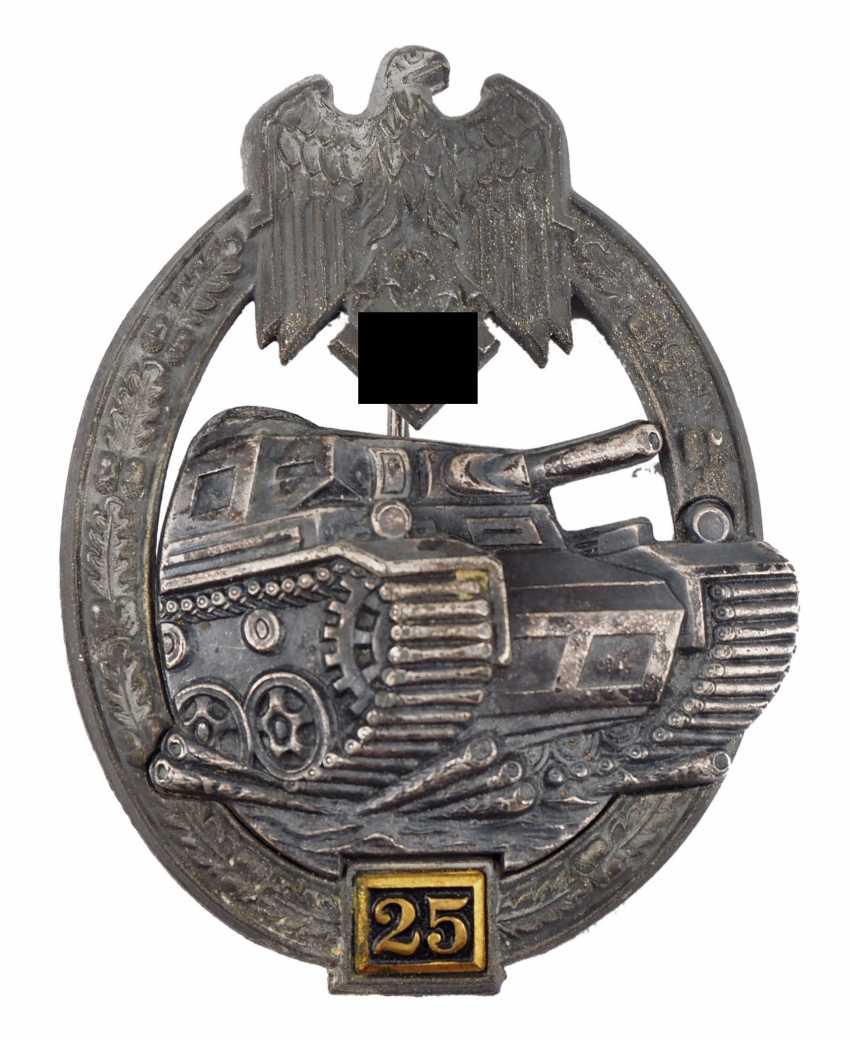 Tank battle badge, level II - Gustav Brehmer. - photo 1