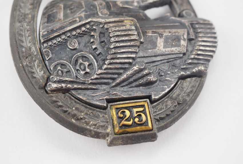 Tank battle badge, level II - Gustav Brehmer. - photo 2